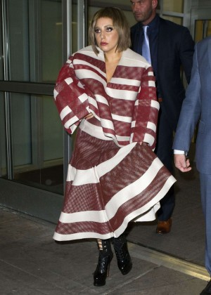 Lady Gaga at JFK Airport -04