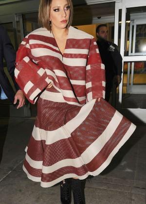 Lady Gaga at JFK Airport -05