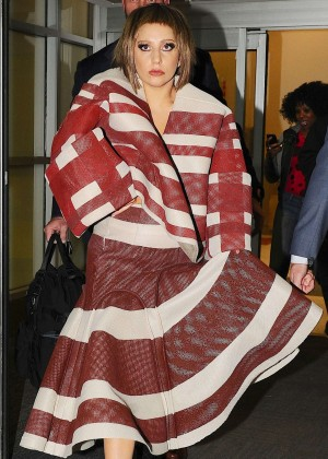 Lady Gaga at JFK Airport in New York