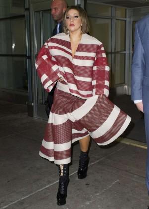 Lady Gaga at JFK Airport -09