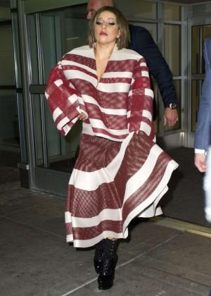Lady Gaga at JFK Airport -10