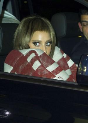 Lady Gaga at JFK Airport -11
