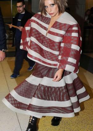 Lady Gaga at JFK Airport -13