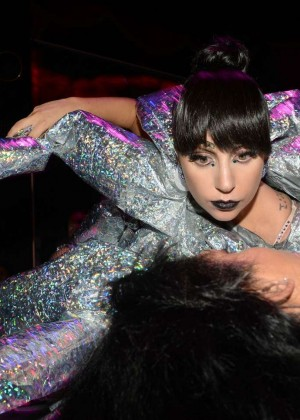 Lady Gaga at VIP Room Club -10