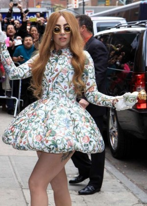 Lady Gaga Leggy at Late Show with David Letterman -11