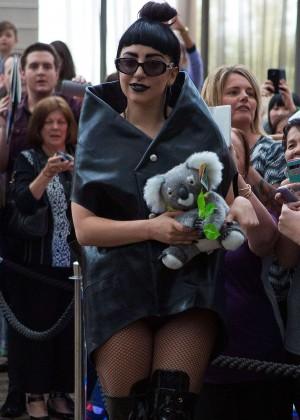 Lady Gaga - Arriving at Perth Airport in Australia
