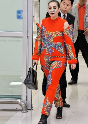 Lady Gaga Arriving in Seoul