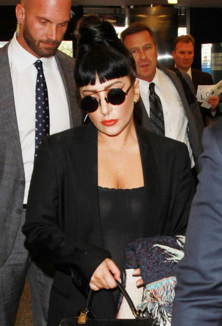 Lady Gaga at LAX Airport in Los Angeles