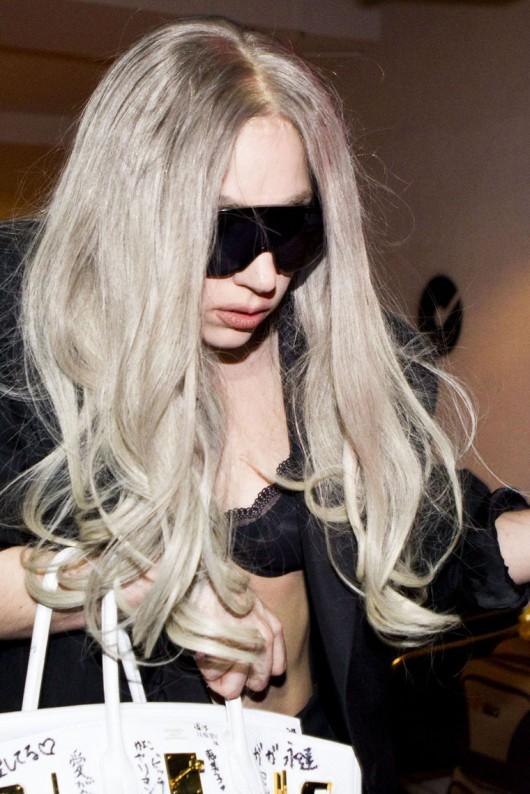 Lady GaGa candids in underwear