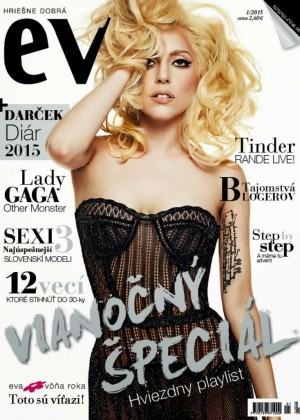 Lady Gaga - EVA Slovak Magazine Cover (January 2015)