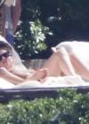 Lady Gaga in a bikini at the pool -01