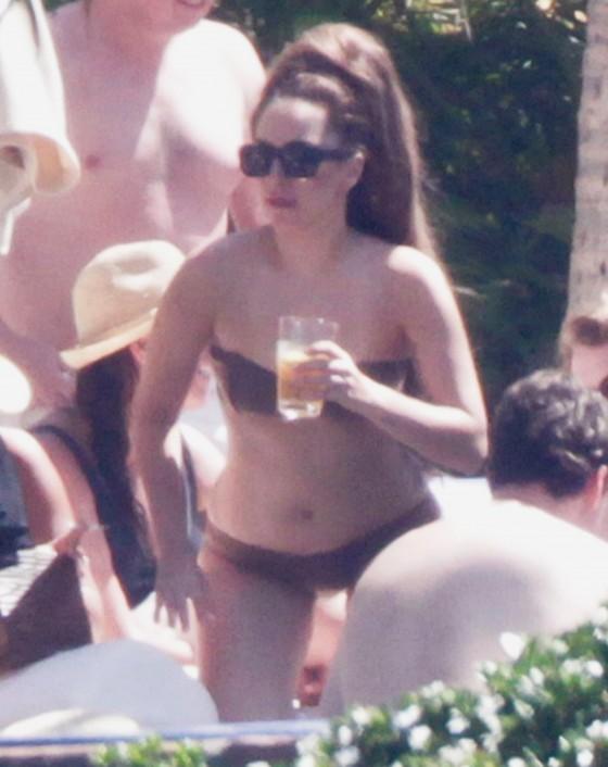 Lady Gaga in a bikini