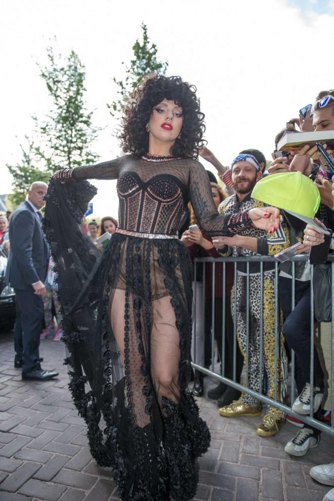 Lady Gaga - Leaving her hotel in Amsterdam