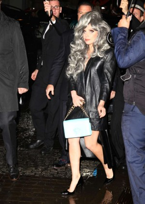 Lady Gaga - Leaving Her Hotel In Milan