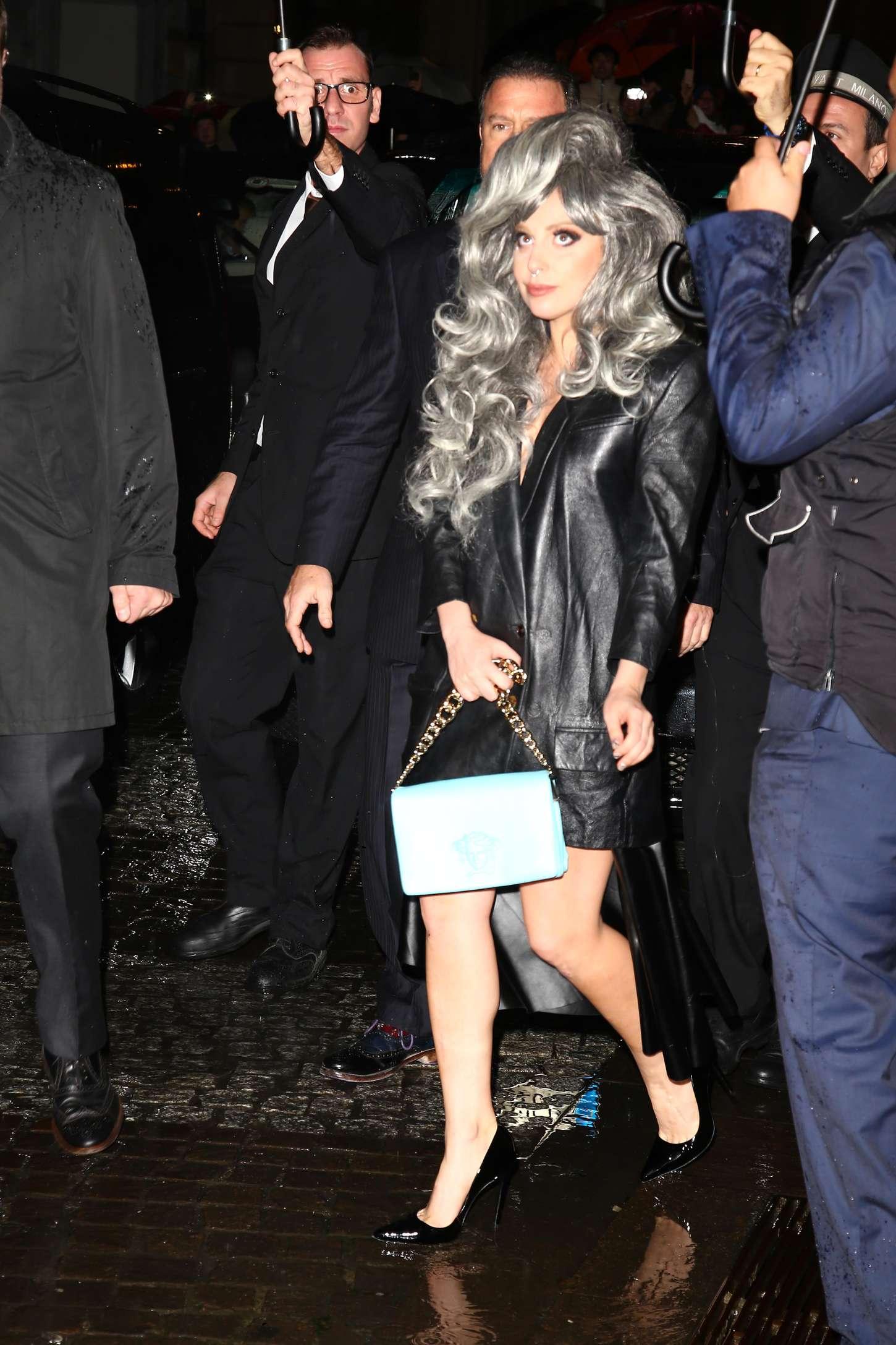 Lady Gaga - Leaving Her Hotel In Milan