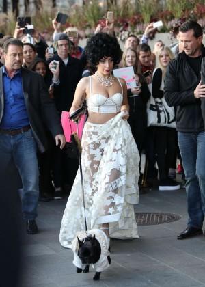 Lady Gaga - Leaving her hotel in Stockholm, Sweden