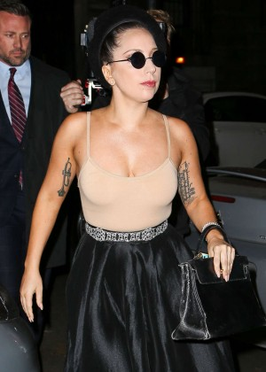 Lady Gaga in a Tight Top out In NYC