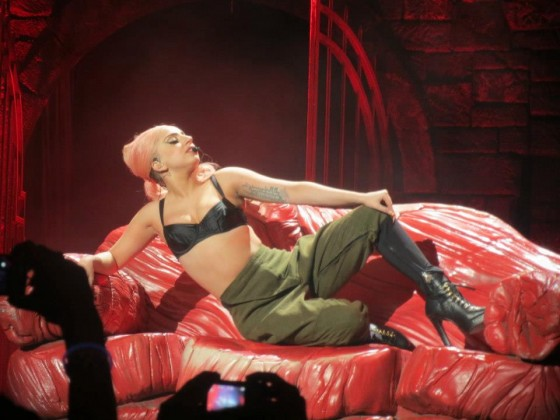 Lady Gaga Performing in Dallas