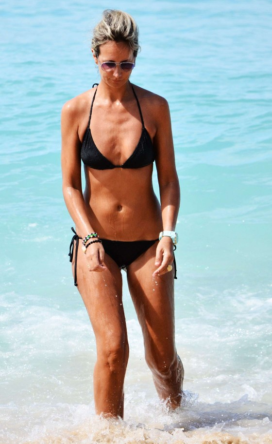 Lady Victoria Hervey – Wearing Bikini on the Beach in Barbados