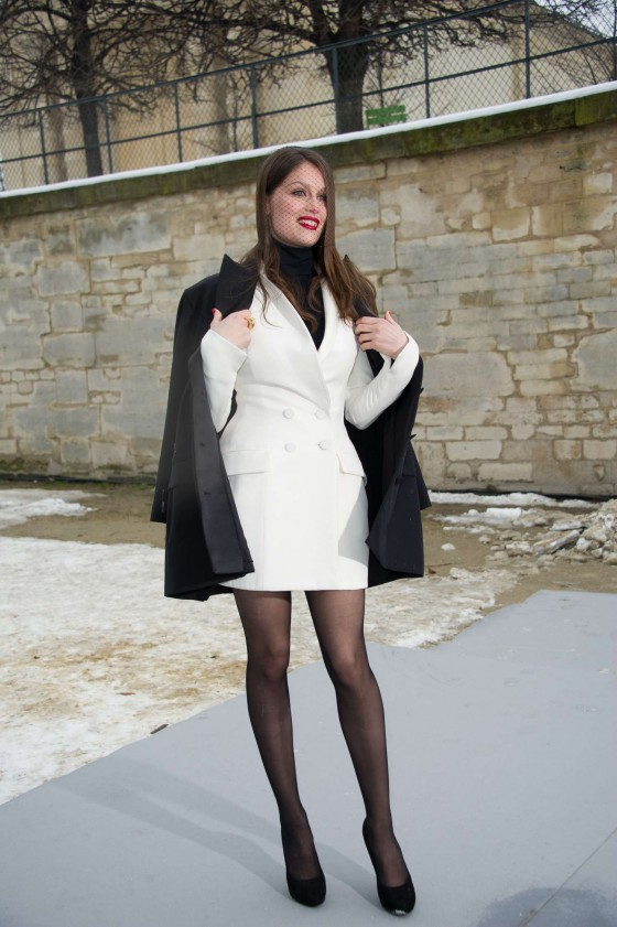 Laetitia Casta at 2013 The Dior Fashion Show in Paris
