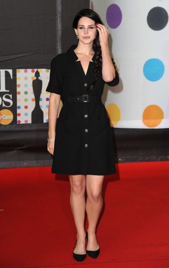 Lana Del Rey at Brit Awards 2013 -01