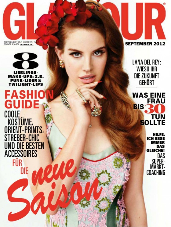 Lana Del Rey photoshoot for Glamour Magazine Germany September 2012