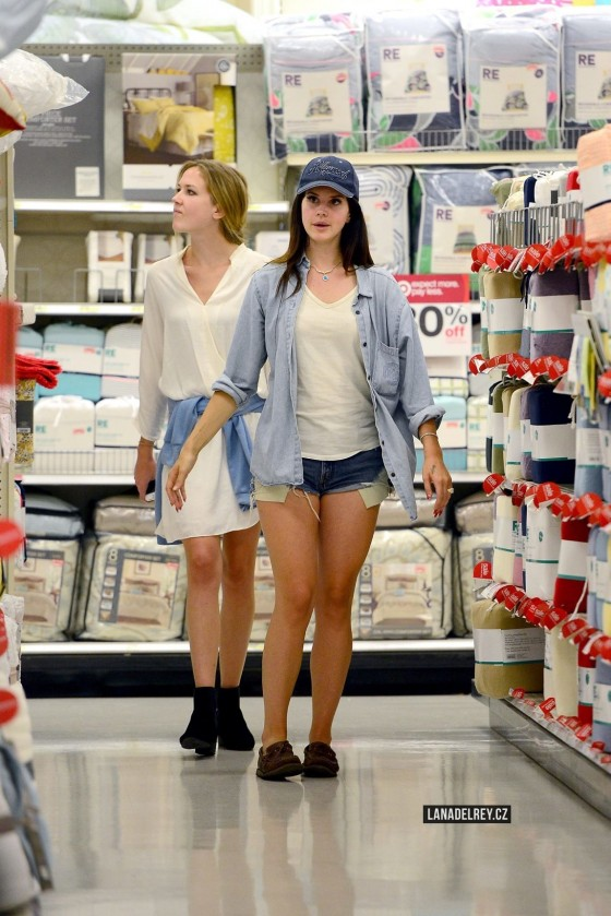 Lana Del Rey in Shorts Shopping at Target in LA
