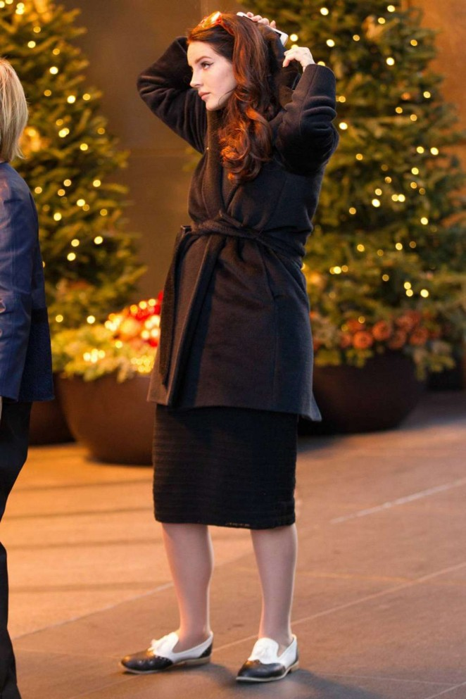 Lana Del Rey Outside Mandarin Hotel in New York