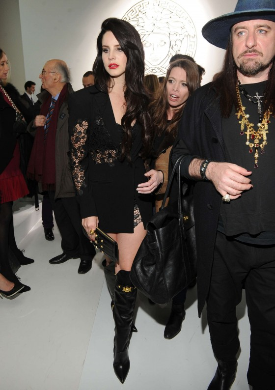 Lana Del Rey – Versace fashion show during Milan Fashion Week 2013-02
