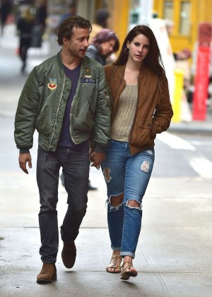 Lana Del Rey with Francesco Carrozzini out in Soho