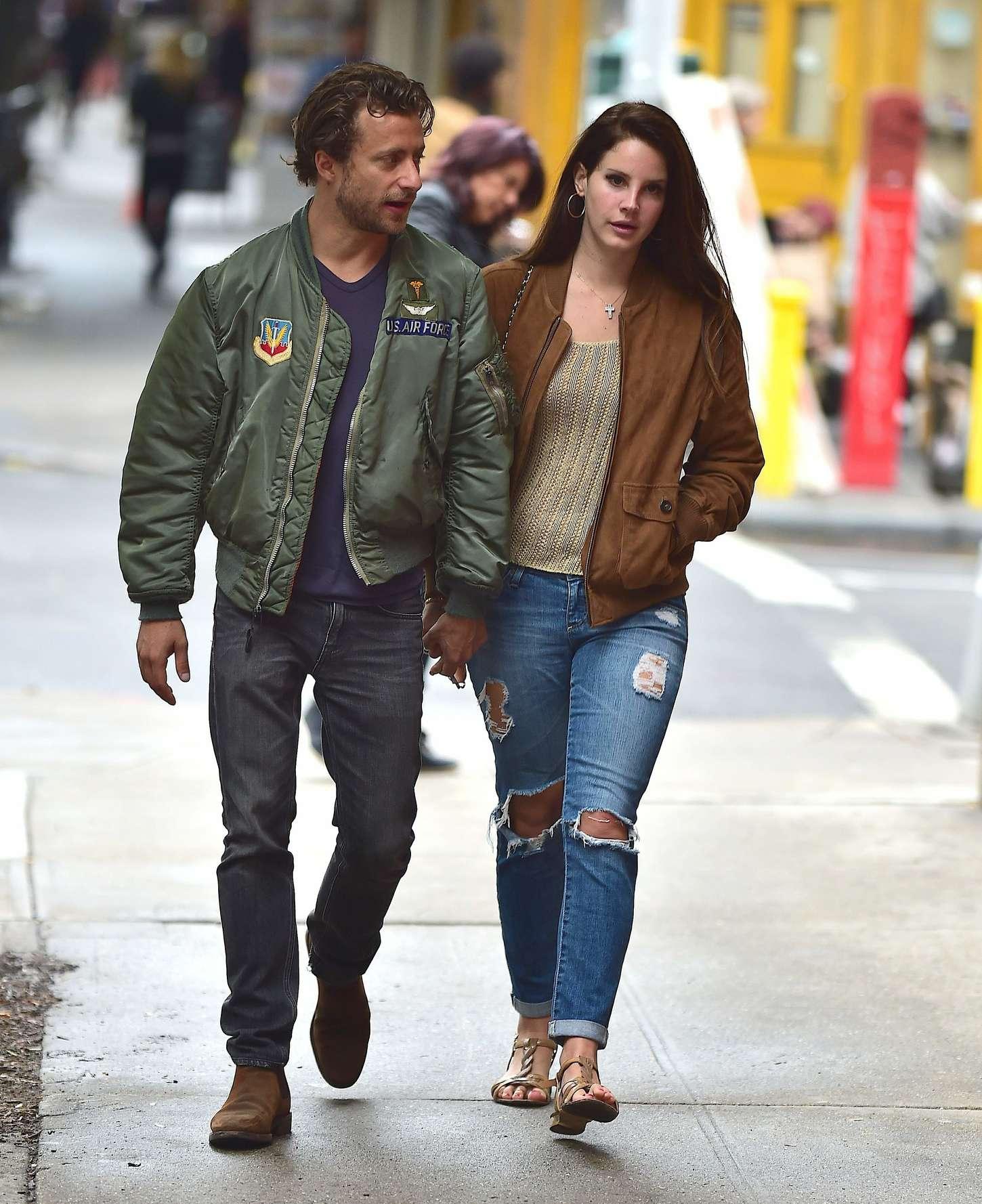 Lana Del Rey with Francesco Carrozzini out in Soho