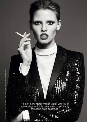 Lara Stone - Industrie Magazine (August 2014)