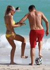 Laura Cremaschi Bikini Photos: 2014 playing soccer in Miami -20