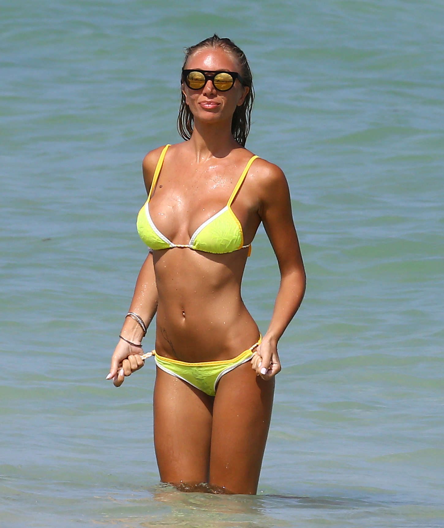 Laura Cremaschi Hot in Bikini on Miami Beach