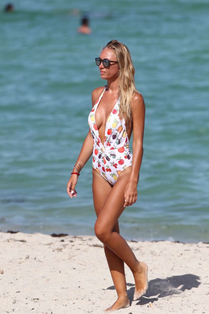 Laura Cremaschi in Swimsuit on Miami Beach