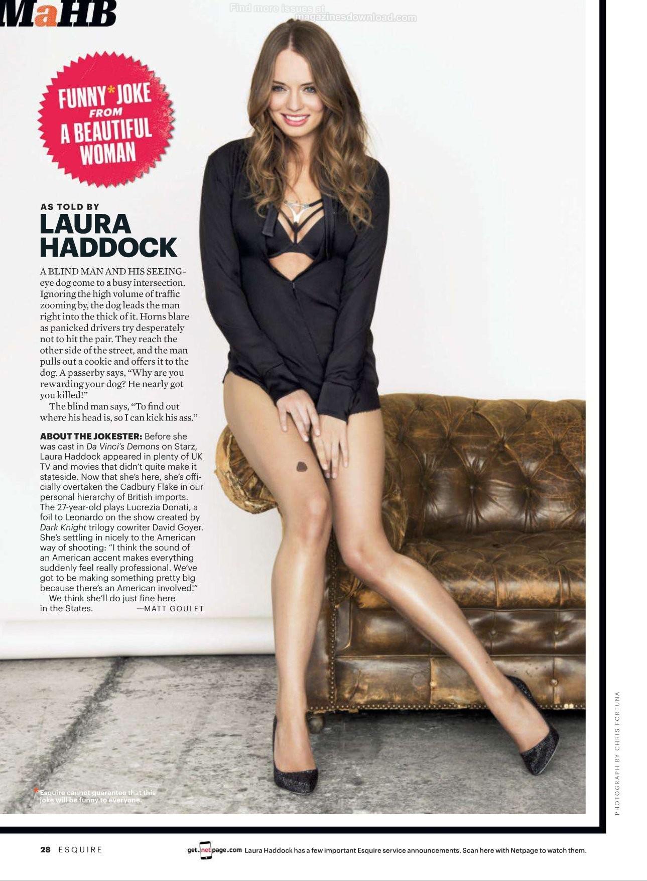 May 2013 Fashion Magazine Covers: Laura Haddock - Esquire - May 2013-01