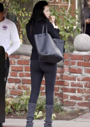Laura Prepon Booty in Tights out in Los Feliz