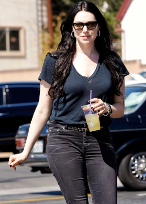 Laura Prepon in Tight Jeans out in Los Feliz