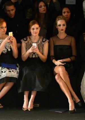 Laura Vandervoort: 2014 Fashion Show in NYC - Naeem Khan -01