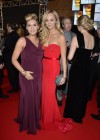 Laura Vandervoort In Red Dress at Canadian Screen Awards 2013-02