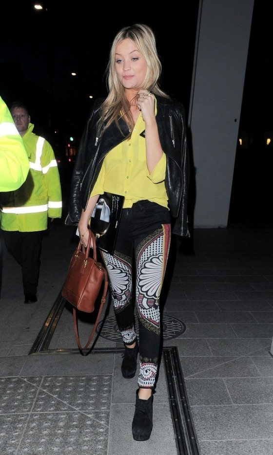 Laura Whitmore - attends the Daft Punk listening party at The Shard in London -08