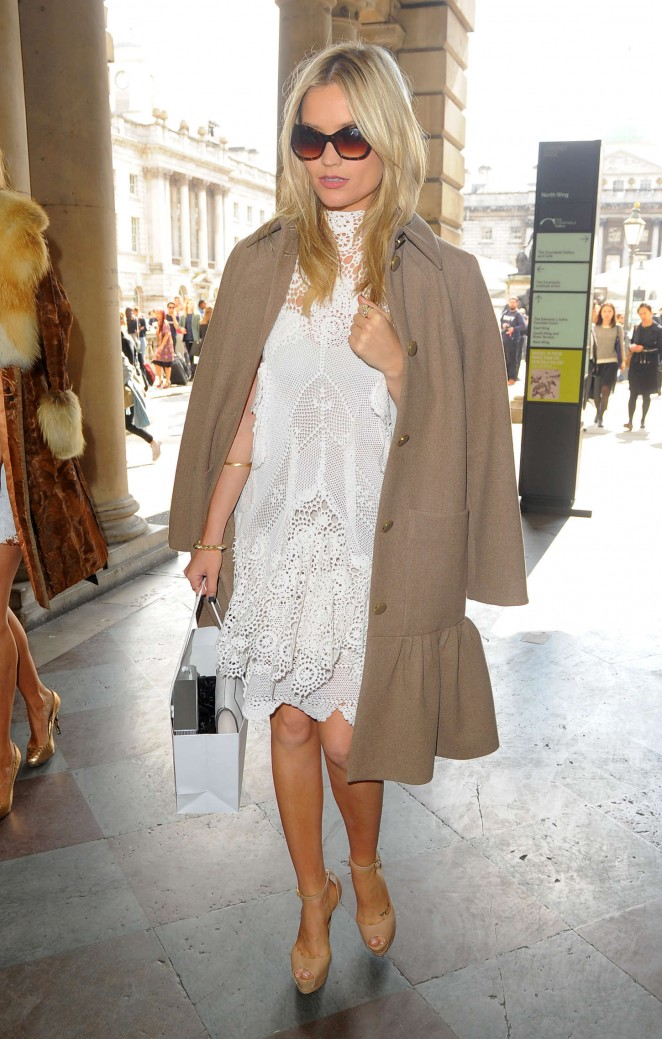 Laura Whitmore: Somerset House for London Fashion Week 2014 -01