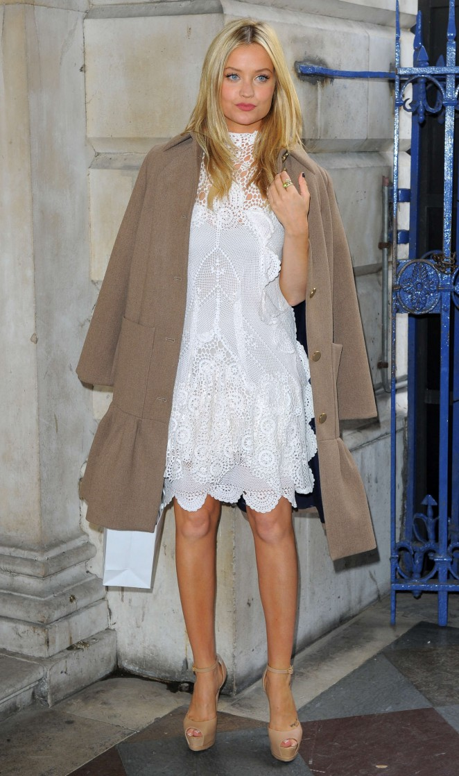 Laura Whitmore: Somerset House for London Fashion Week 2014 -05