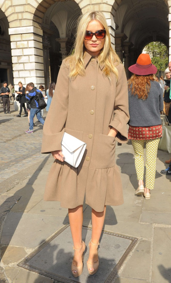 Laura Whitmore: Somerset House for London Fashion Week 2014 -08