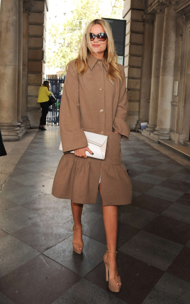 Laura Whitmore: Somerset House for London Fashion Week 2014 -10