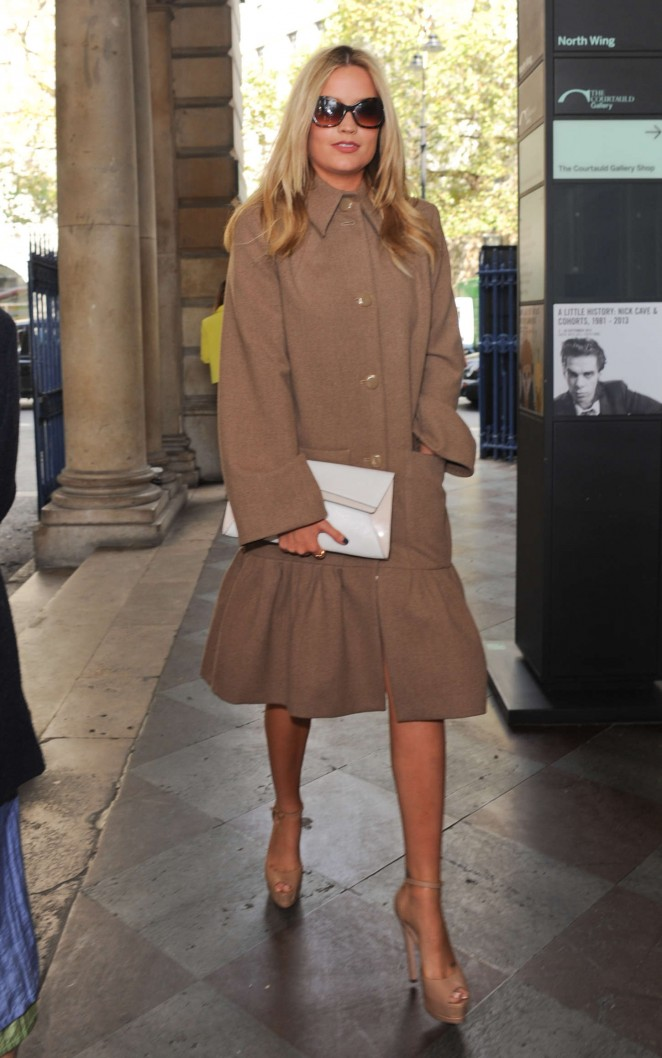 Laura Whitmore: Somerset House for London Fashion Week 2014 -11