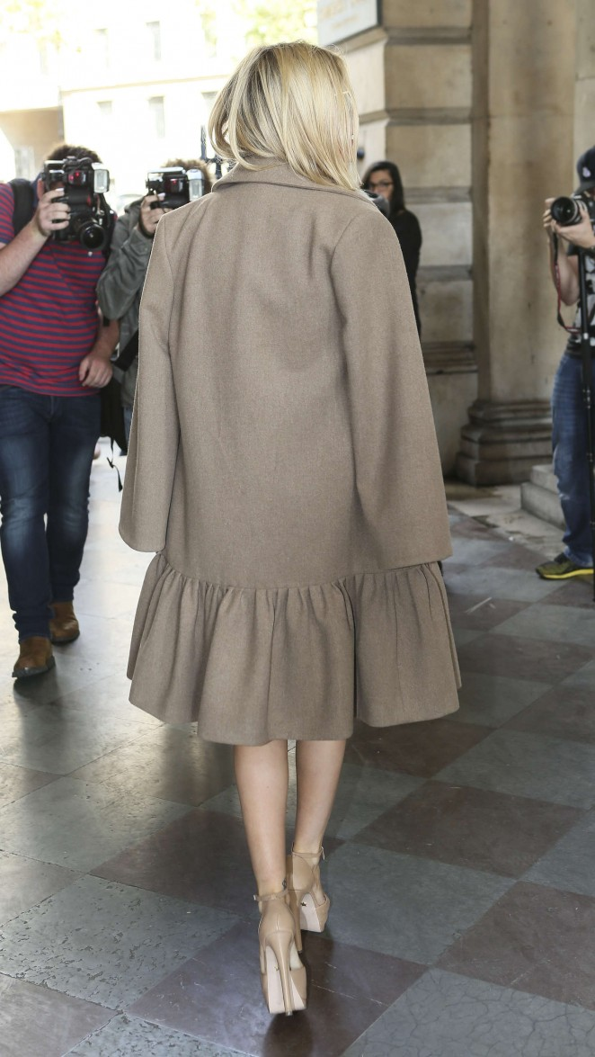Laura Whitmore: Somerset House for London Fashion Week 2014 -15