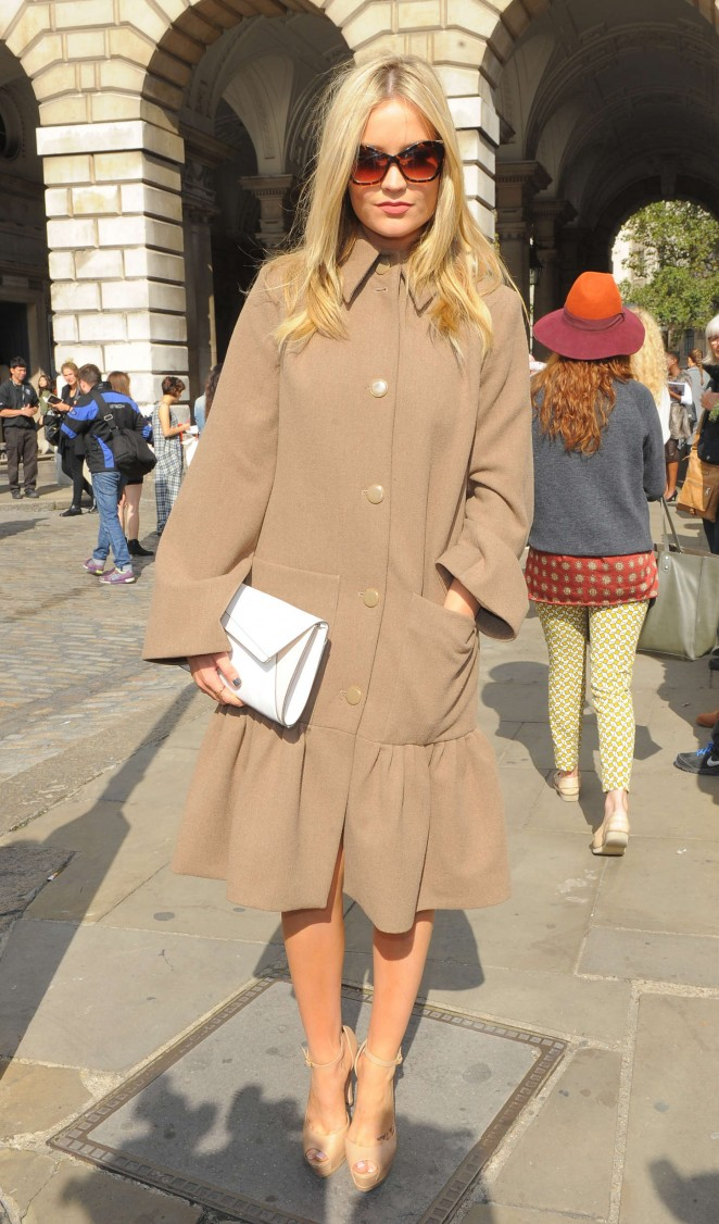 Laura Whitmore: Somerset House for London Fashion Week 2014 -16