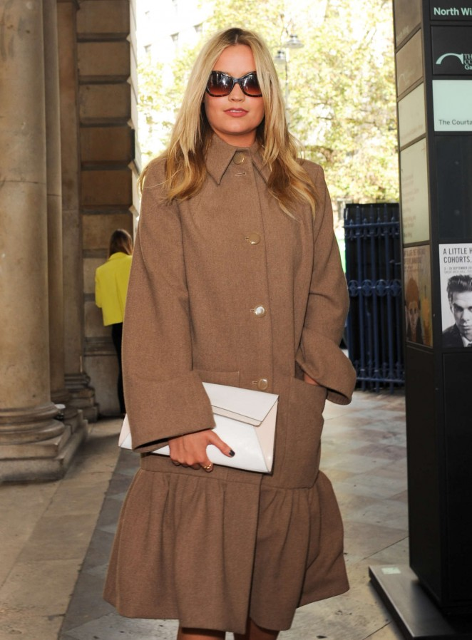 Laura Whitmore: Somerset House for London Fashion Week 2014 -18