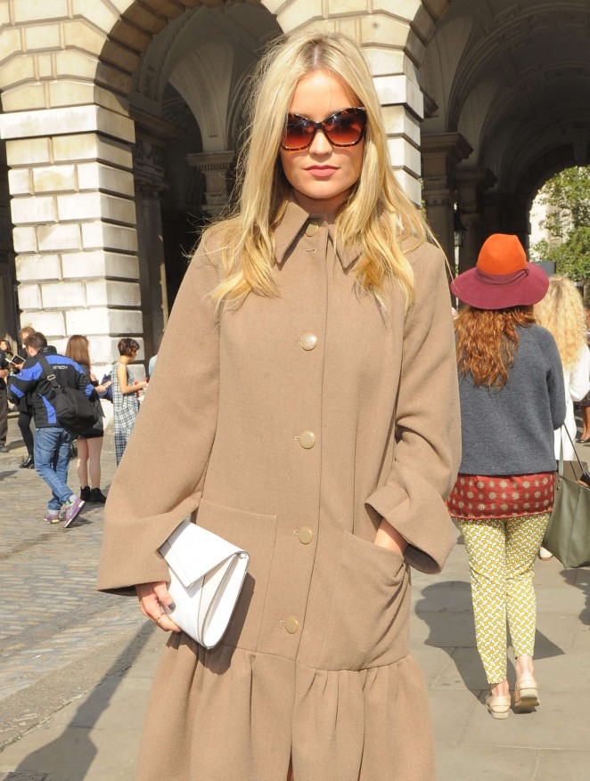 Laura Whitmore: Somerset House for London Fashion Week 2014 -19